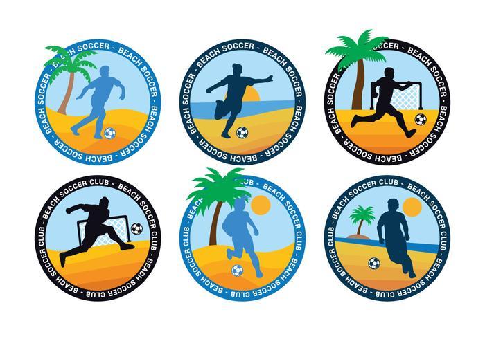 Beach soccer vector