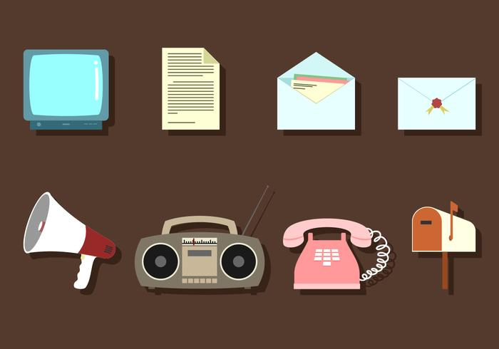 Communication Media Free Vector