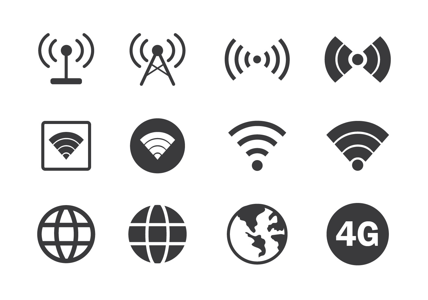 Internet connection icon download free vector art stock internet connection icon download free vector art stock graphics images buycottarizona Images