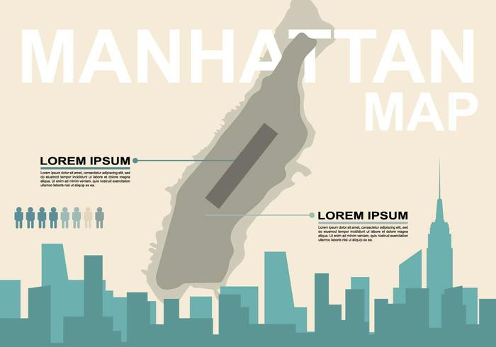Gratis Manhattan Map Illustration vektor