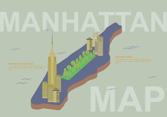 Free Manhattan Map Illustration