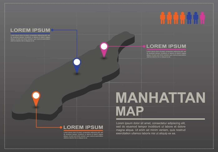 Free Manhattan Map Illustration