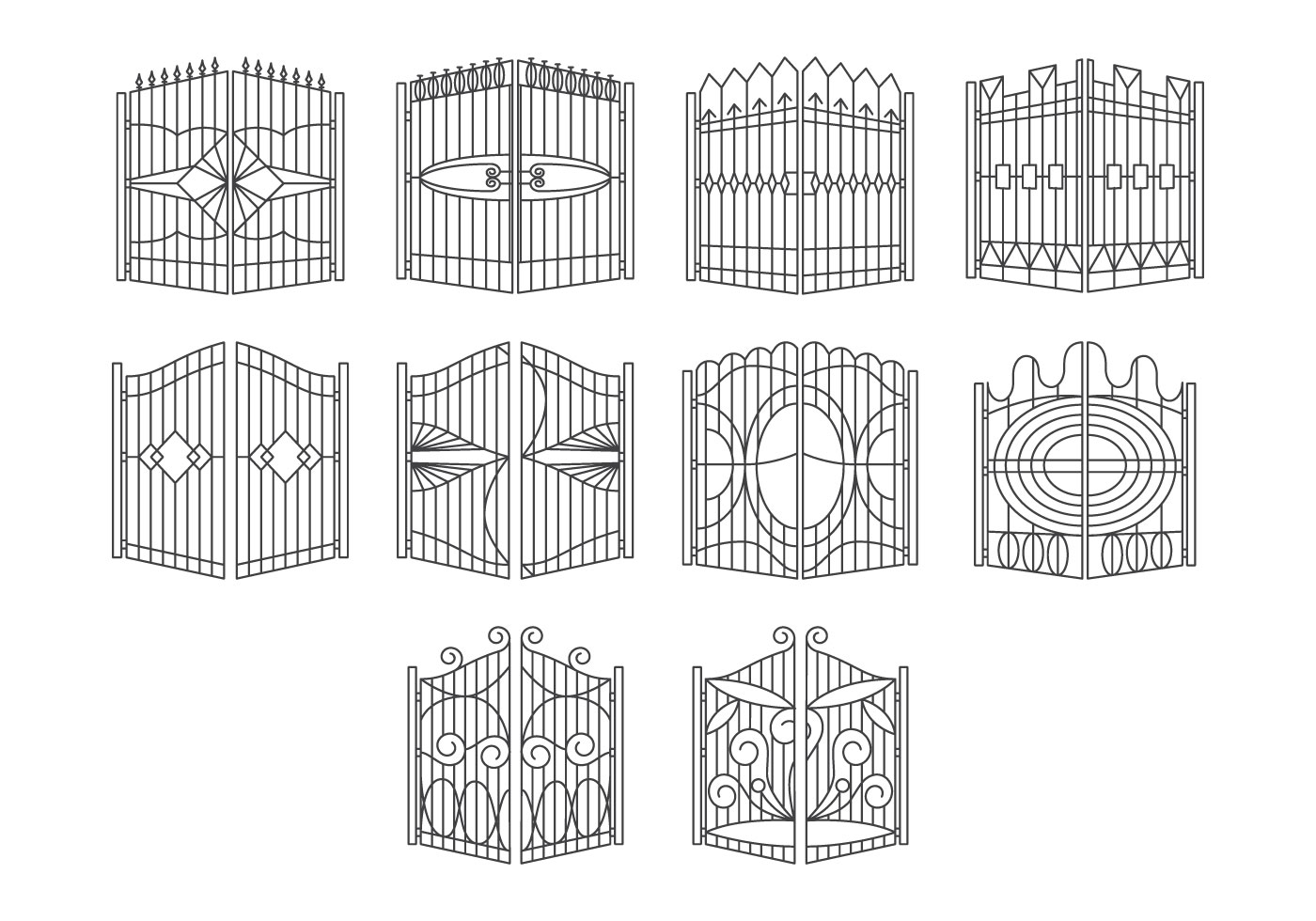 Free Gate Icon Vector Download Free Vector Art Stock