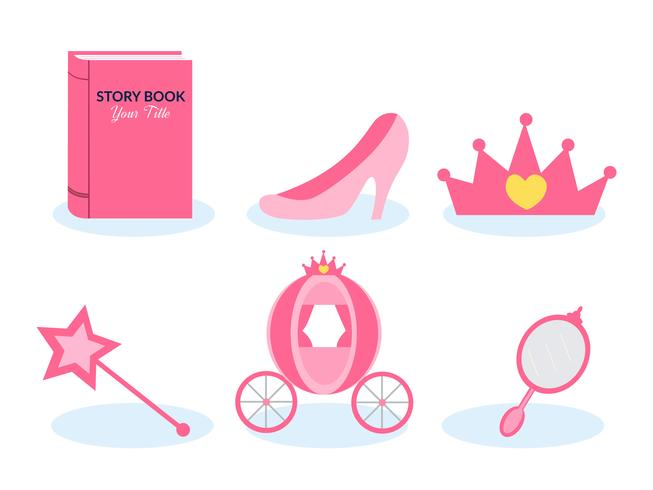 Storytelling Princess Vector Set