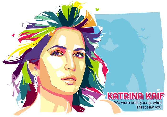 Schöne Katrina Kaif - Popart Porträt vektor