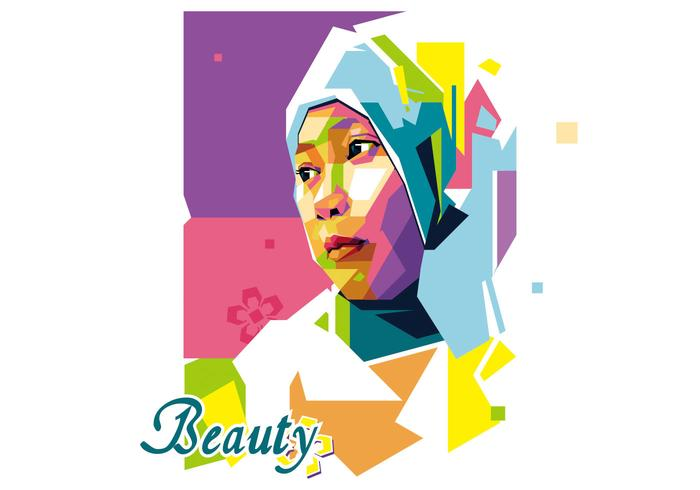 Beauty Girl - Popart Portrait WPAP
