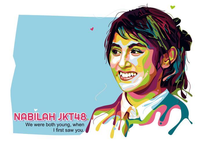 Nabilah JKT48 - Popart Portrait