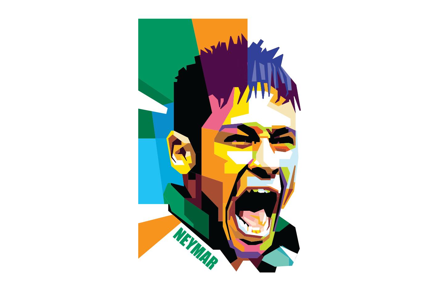 neymar wpap download free vector art stock graphics