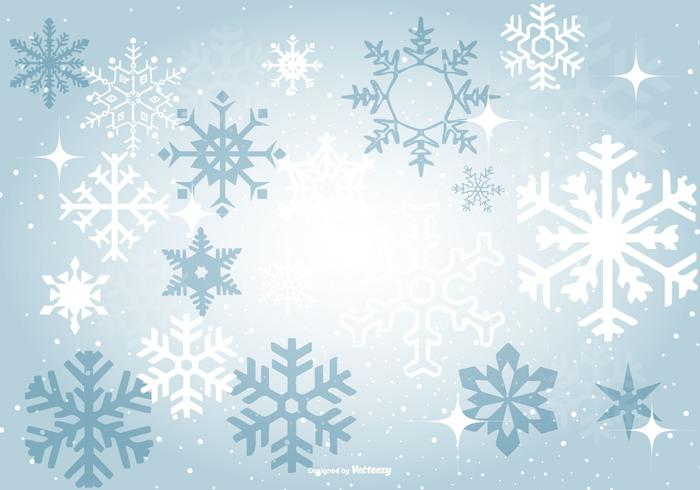 Beautiful Blue Snowflake Background