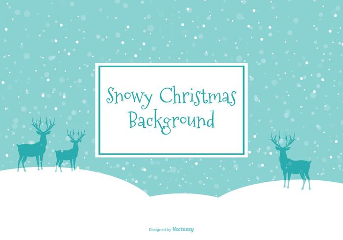 Beautiful Snow Scene Illustration vector