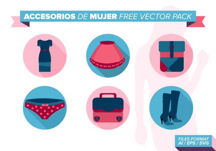 Accesorios de Mujer Pack Vector Libre