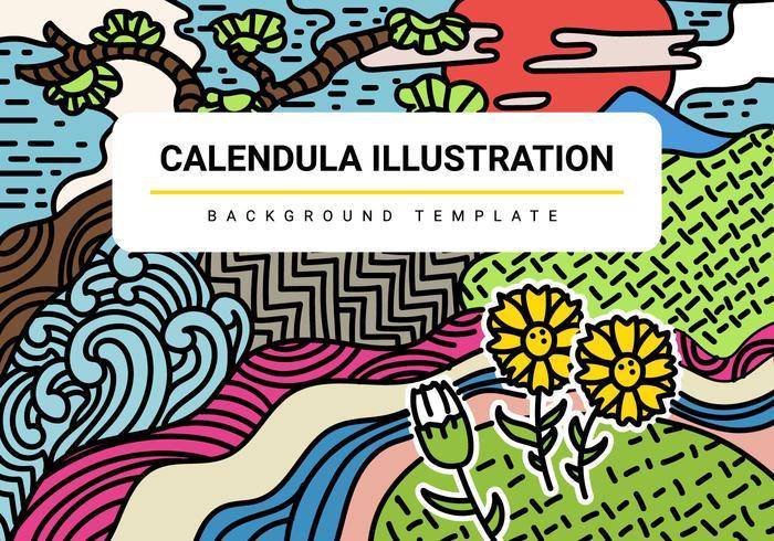 Free Calendula Vector Illustration