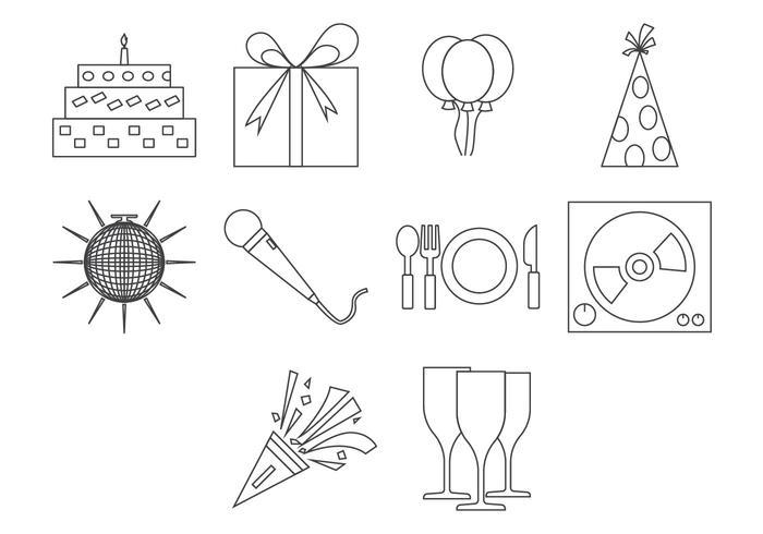 Fri fest ikon vektor