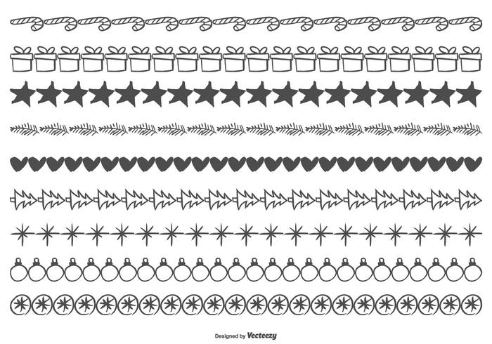 Cute Sketchy Christmas Borders - Download Free Vector Art ...