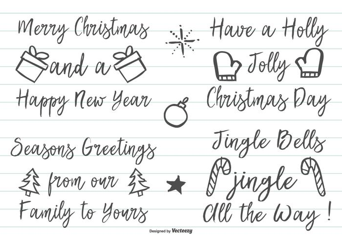 Cute Hand Drawn Christmas Lettering