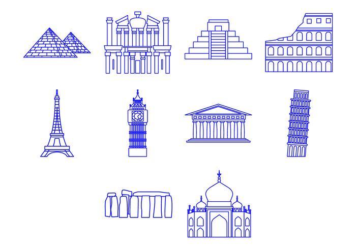 Gratis World Landmarks Icon Vector
