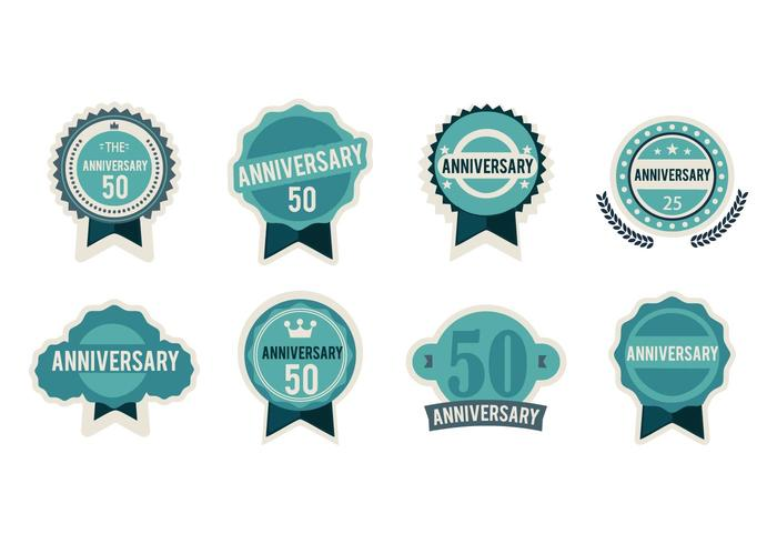 Free  Anniversary Badges Vector