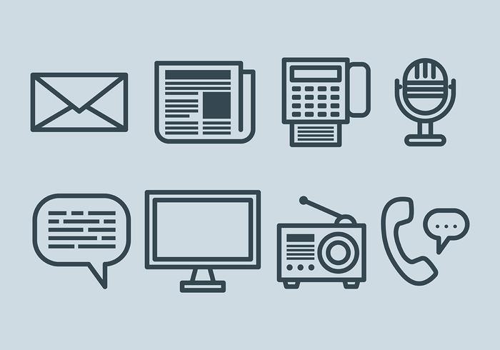 Vector d'icônes de communication gratuite