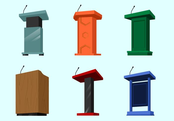 Perspectief Lectern Gratis Vector