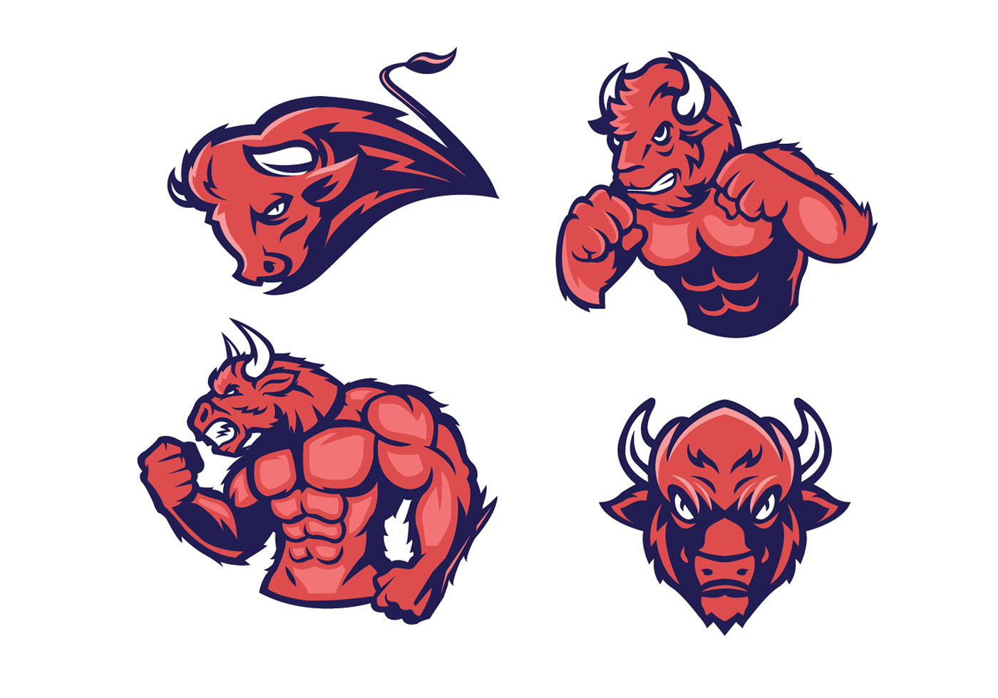 bison vector download free vector art stock graphics