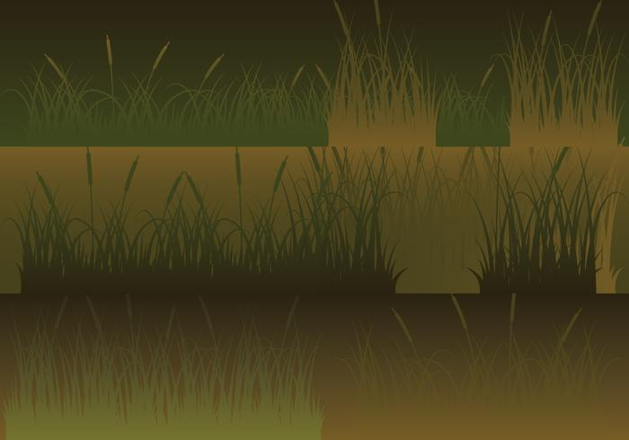 Meadow Silhouettes Horizontal Banners Set