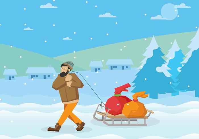 Free Toboggan Illustration
