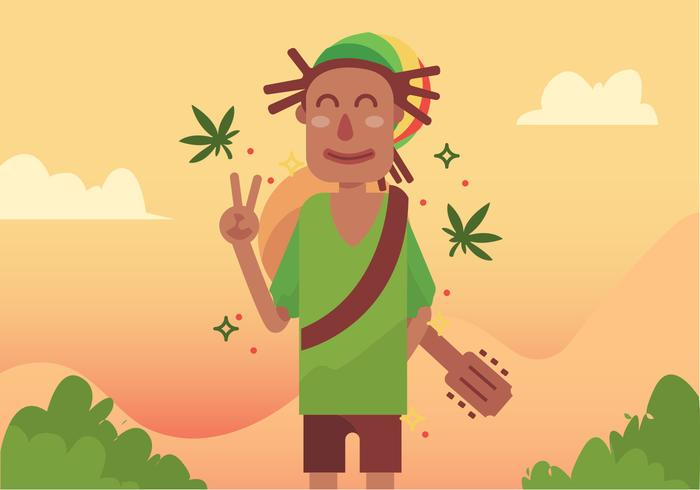Guy with Dreads Vector Design