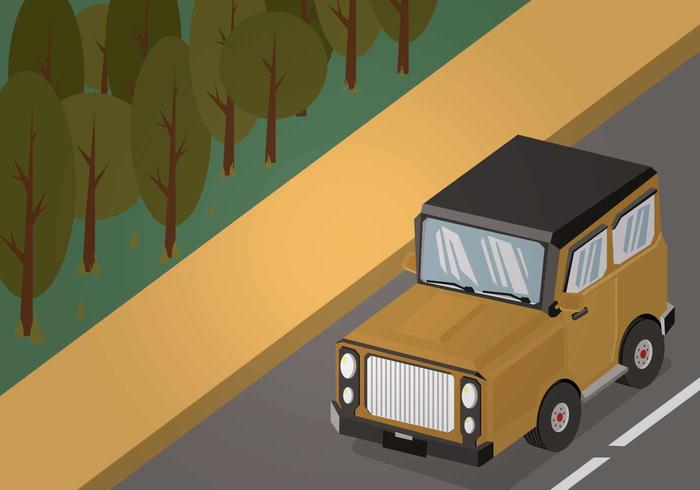 Gratis Jeep Illustratie