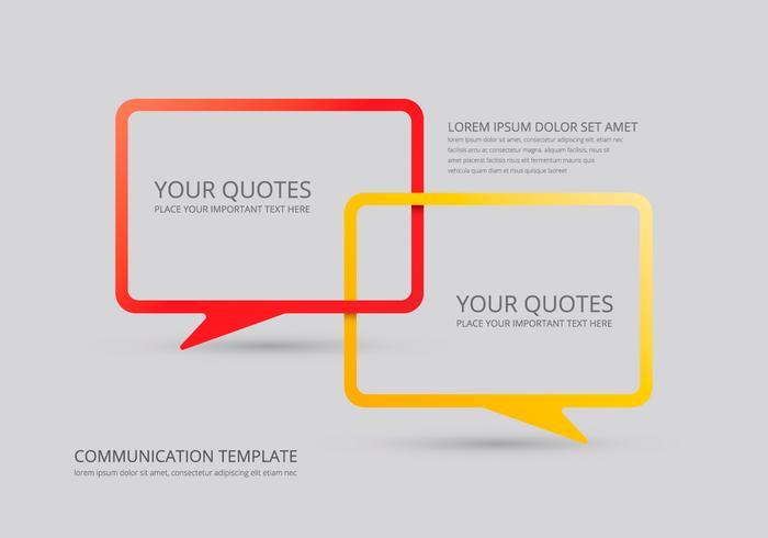 Illustration de discussion de communication