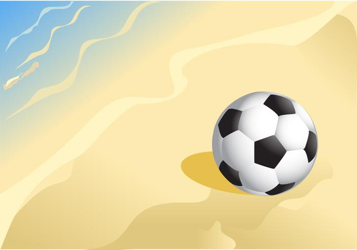 Ballon de football sur un vecteur de plage de sable