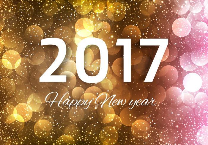 Free Vector Neujahr 2017 Hintergrund