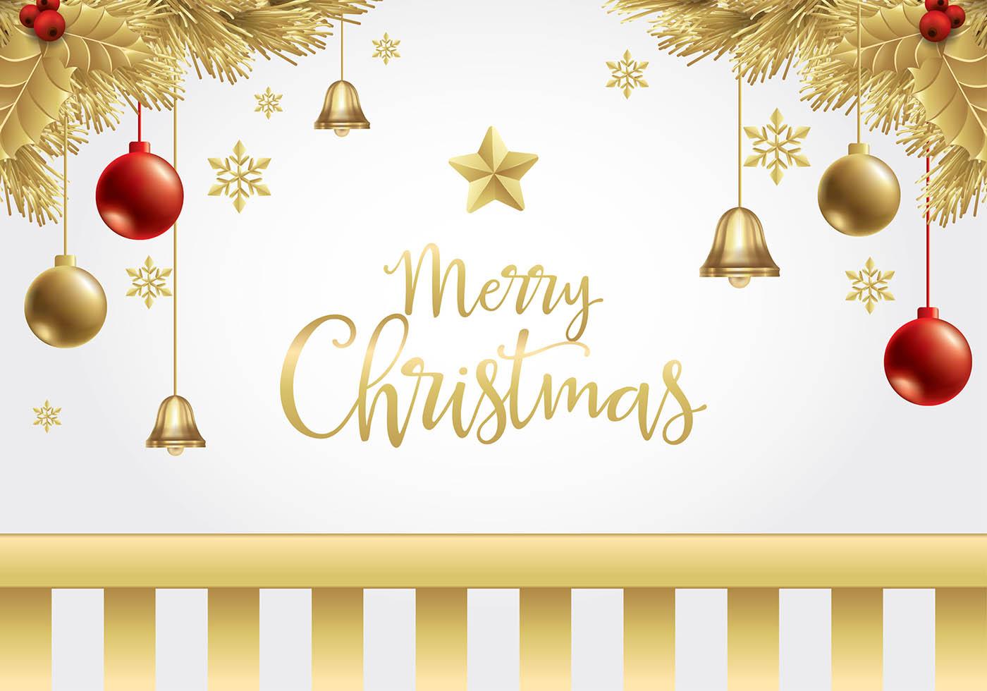 Weihnachten Gold Hintergrund Free Vector - Kostenlose Vektor-Kunst ...