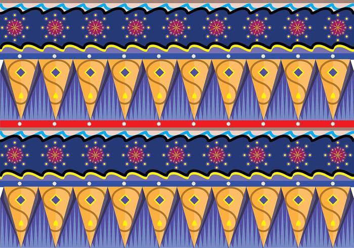 Gipsy Patroon Vector Art