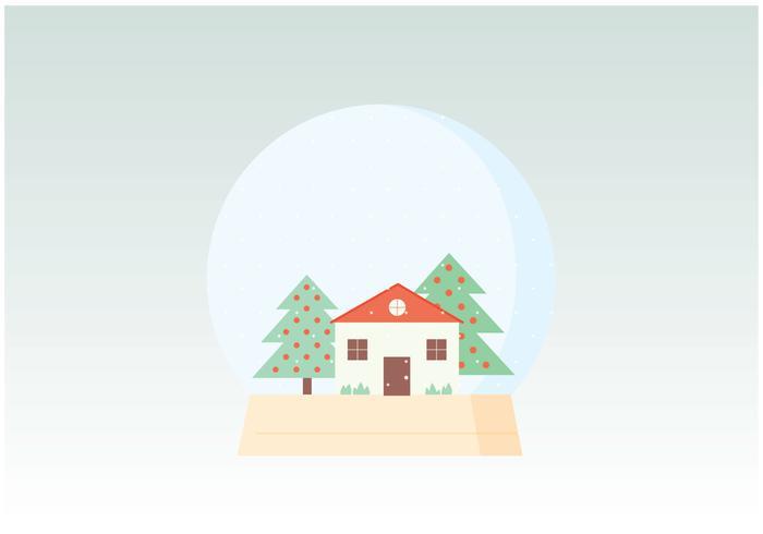 Winter Globe Illustration
