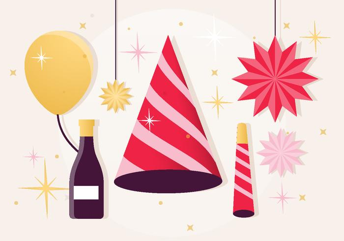 Festive New Year Elements Vector