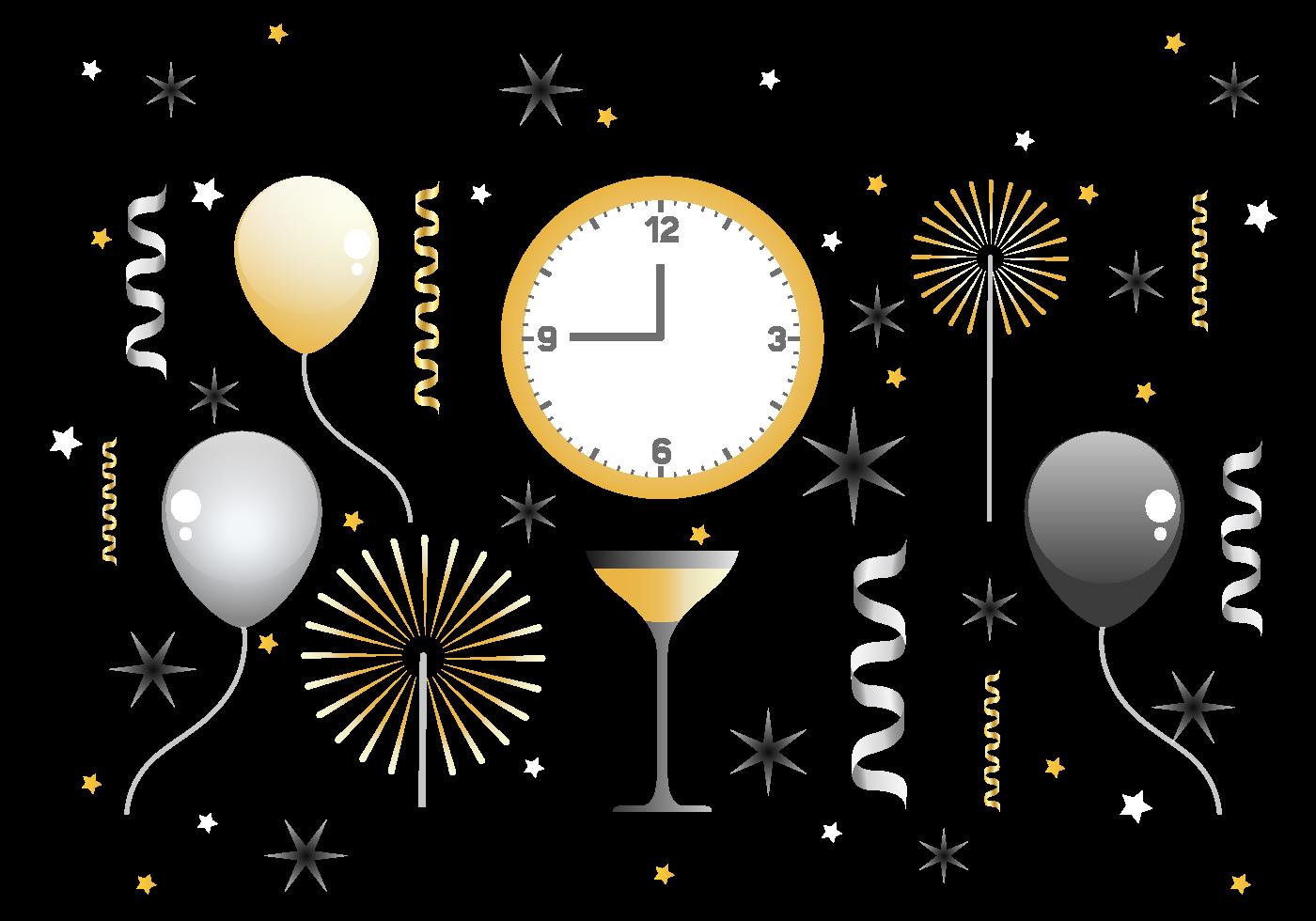 Happy New Year Vector Decorations - Download Free Vectors ...