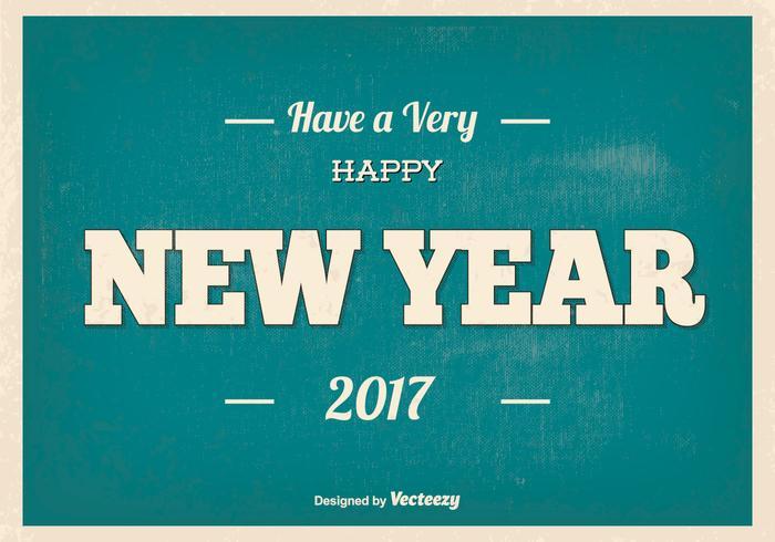 Typographic Happy New Year Illustration