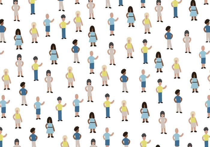 Miniatura de Personas Vector Patrón