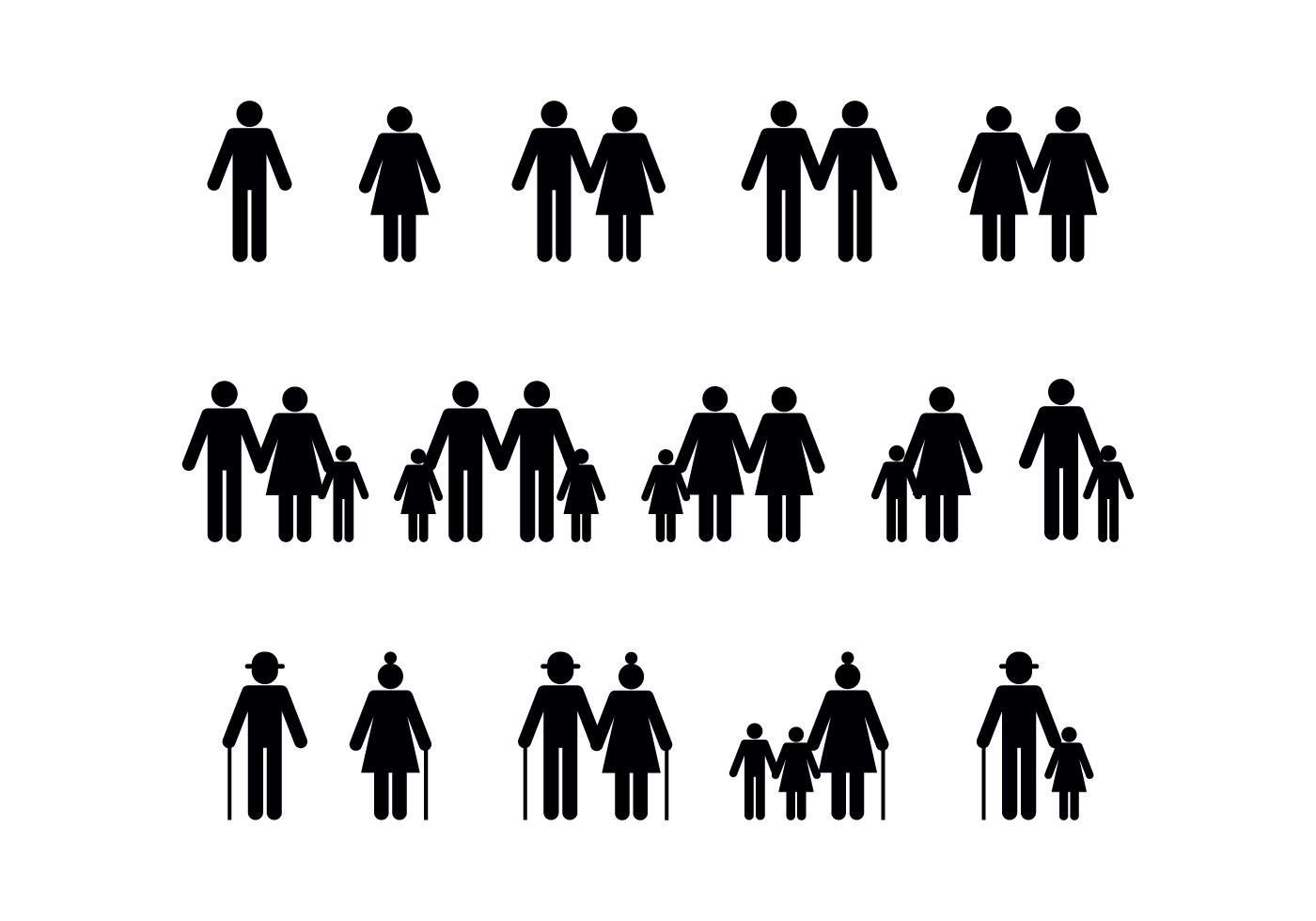 Personas Vector Diversidad Familiar