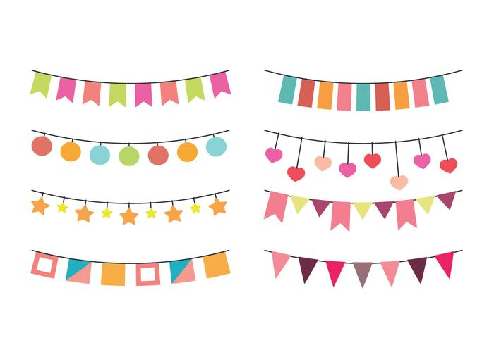 Vector Garlands for Parties