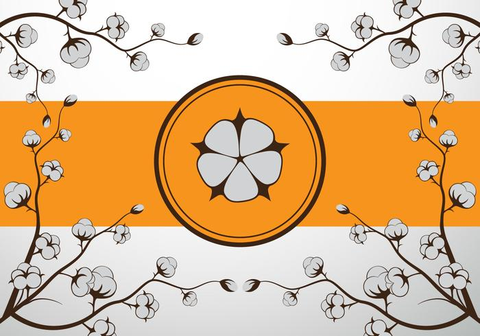 Cotton flower vector illustration