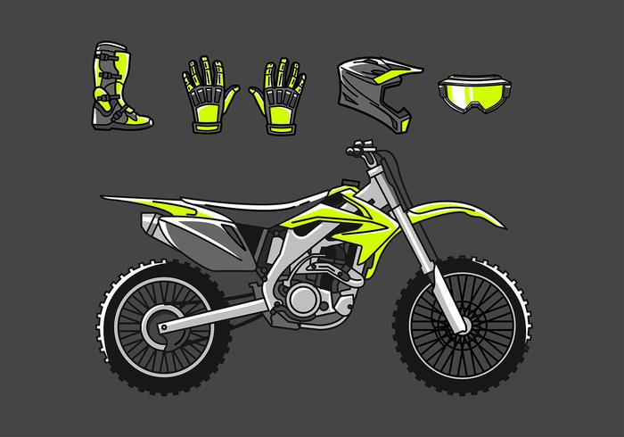 Dirt Bike conjunto vector libre