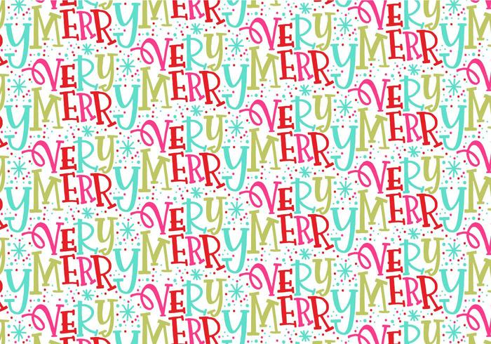 Very Merry Christmas Repeating Pattern vector