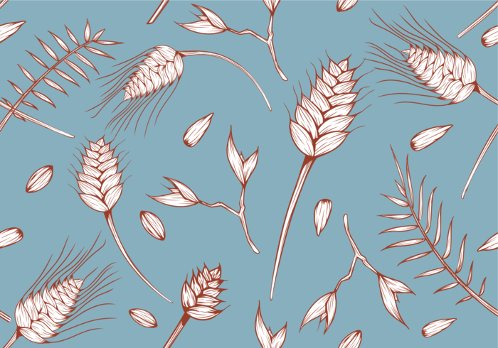 Sea Oats Pattern Vector