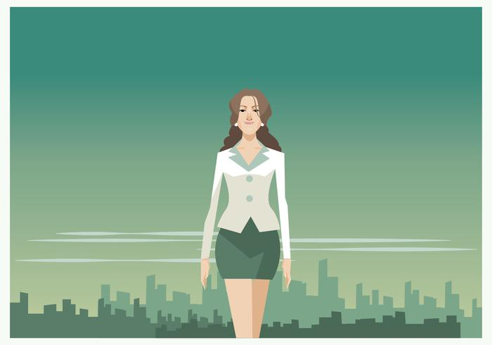 Mooie Business Woman Vector