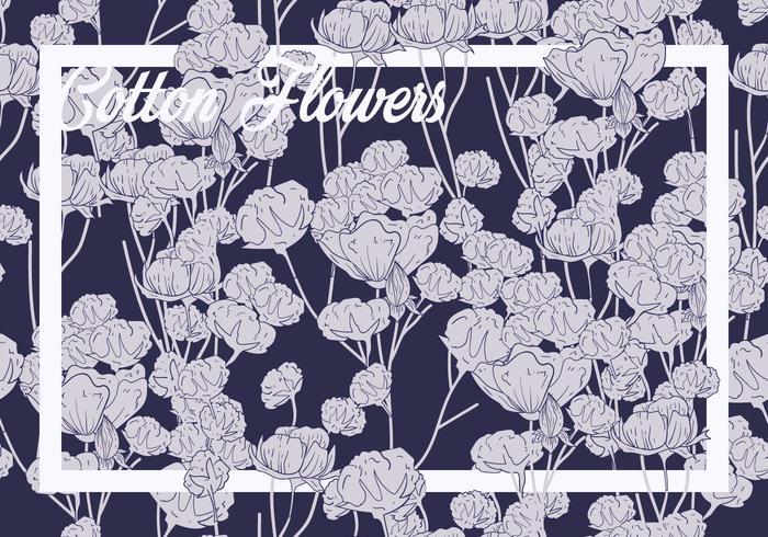 Baumwollblumen-nahtloses Muster
