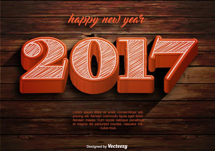 Vector Happy New Year 2017 Vorlage