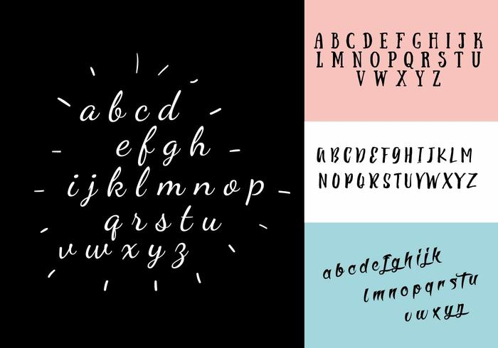 Decoratieve Alfabet Vector Set