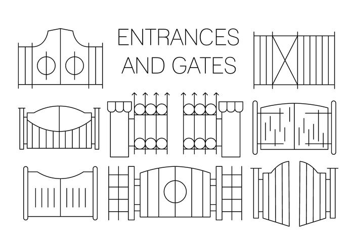 Gratis Gate Pictogrammen