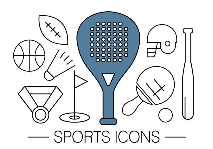 Fri sport ikoner vektor